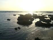 חוף מכמורת , שקיעה